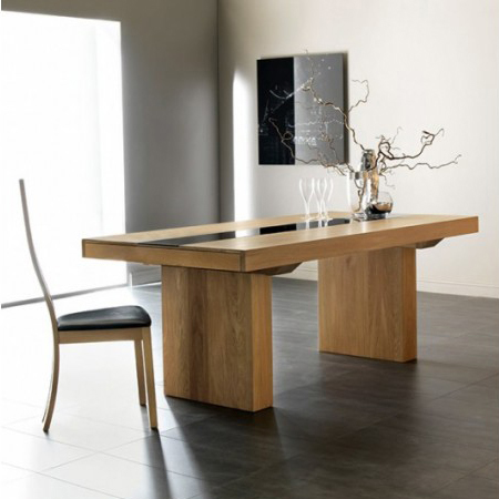 Tables espace d co design for Table salle manger verre bois design