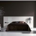 Tête de lit laquée blanc